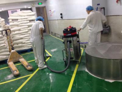 面粉厂地面灰尘清洁