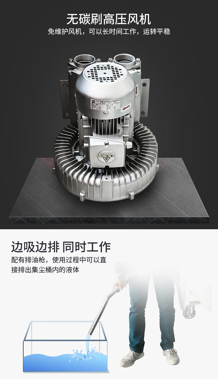 固液分离式工业吸油机风机