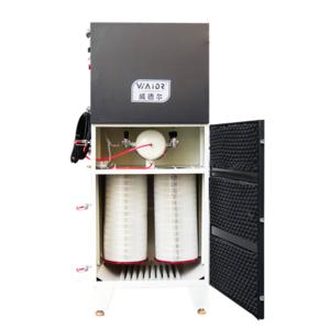 造纸厂吸切割灰尘用柜式移动工业除尘器